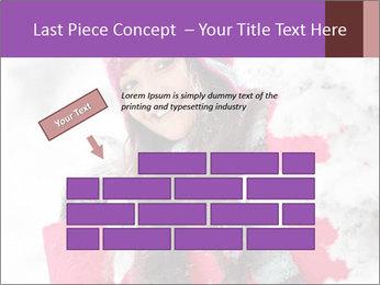 Winter woman PowerPoint Template - Slide 46