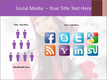 Winter woman PowerPoint Template - Slide 5