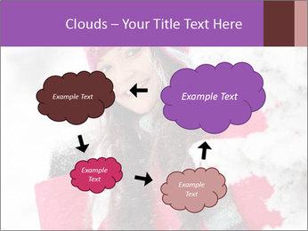 Winter woman PowerPoint Template - Slide 72