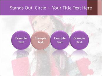Winter woman PowerPoint Template - Slide 76