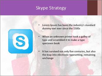 Winter woman PowerPoint Template - Slide 8