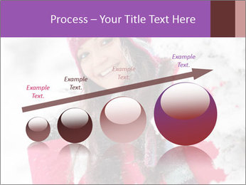Winter woman PowerPoint Template - Slide 87