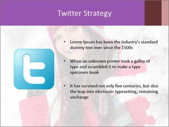 Winter woman PowerPoint Template - Slide 9