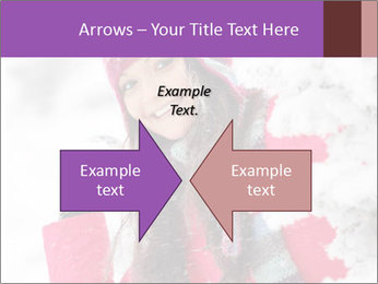Winter woman PowerPoint Template - Slide 90