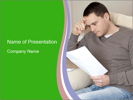 Man reading PowerPoint Template
