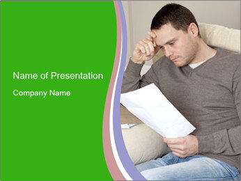 Man reading PowerPoint Template - Slide 1