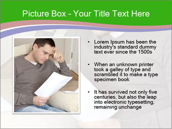 Man reading PowerPoint Template - Slide 13