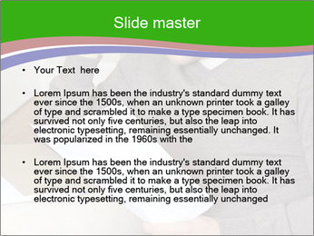 Man reading PowerPoint Template - Slide 2