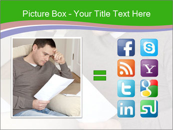 Man reading PowerPoint Template - Slide 21