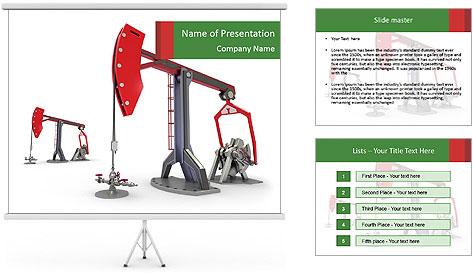 Pump jacks PowerPoint Template