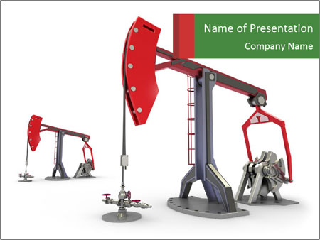 Pump jacks PowerPoint Template