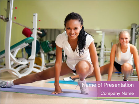 Fitness club PowerPoint Templates