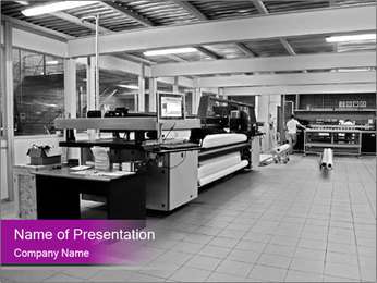 Digital printing system PowerPoint Template