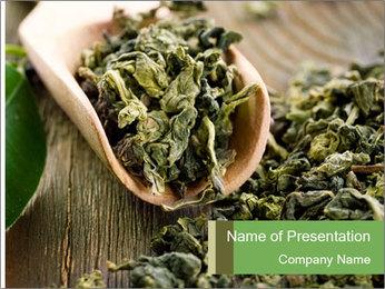 Green Tea PowerPoint Template - Slide 1