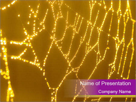 Goldtone Spider PowerPoint Templates
