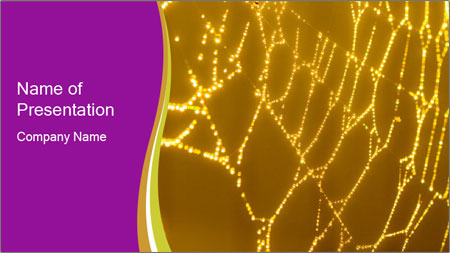 Goldtone Spider PowerPoint Template