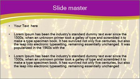 Goldtone Spider PowerPoint Template - Slide 2