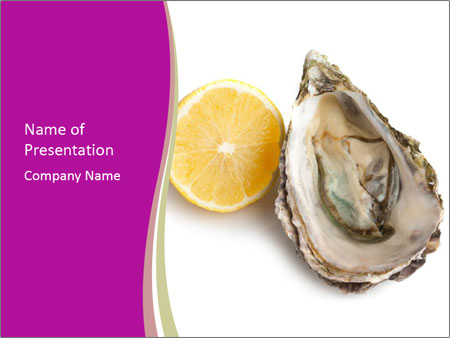 Oyster and lemon PowerPoint Template