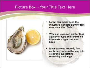 Oyster and lemon PowerPoint Template - Slide 13