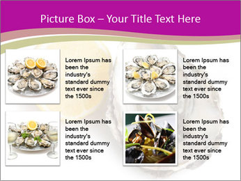 Oyster and lemon PowerPoint Template - Slide 14