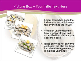 Oyster and lemon PowerPoint Template - Slide 17