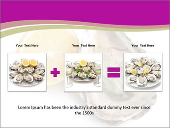 Oyster and lemon PowerPoint Template - Slide 22
