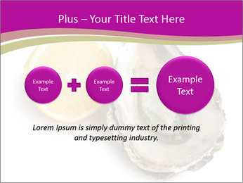 Oyster and lemon PowerPoint Template - Slide 75