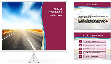 Asphalt blurry road PowerPoint Template
