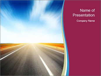 Asphalt blurry road PowerPoint Template
