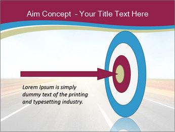 Asphalt blurry road PowerPoint Template - Slide 83