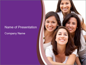 Group smiling PowerPoint Template - Slide 1