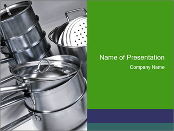 Stacked saucpans PowerPoint Template - Slide 1