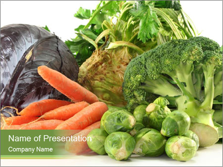 Fresh vegetables PowerPoint Templates