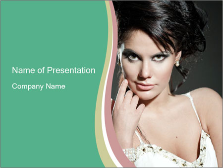 Woman with classy makeup PowerPoint Templates