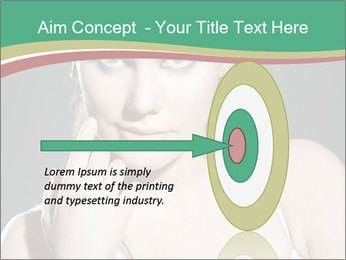 Woman with classy makeup PowerPoint Templates - Slide 83