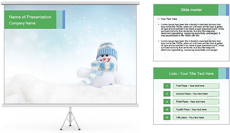 Snowman toy PowerPoint Template