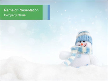 Snowman toy PowerPoint Templates - Slide 1