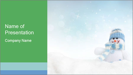 Snowman toy PowerPoint Template - Slide 1