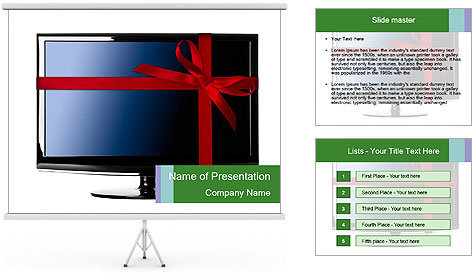 Modern Led tv PowerPoint Template