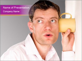 Man listening PowerPoint Template - Slide 1