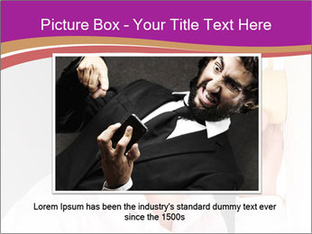 Man listening PowerPoint Template - Slide 16