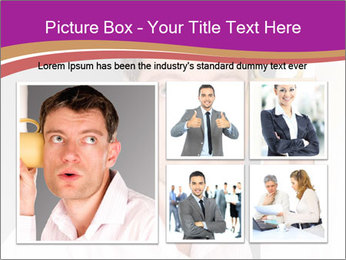 Man listening PowerPoint Template - Slide 19