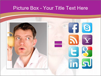 Man listening PowerPoint Templates - Slide 21