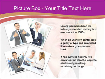 Man listening PowerPoint Template - Slide 23