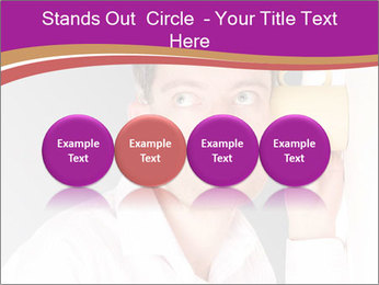 Man listening PowerPoint Templates - Slide 76
