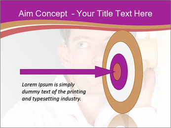 Man listening PowerPoint Template - Slide 83