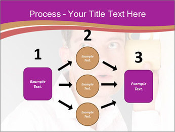 Man listening PowerPoint Templates - Slide 92