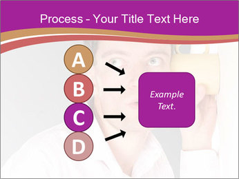Man listening PowerPoint Templates - Slide 94