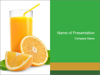 Orange juice PowerPoint Template - Slide 1