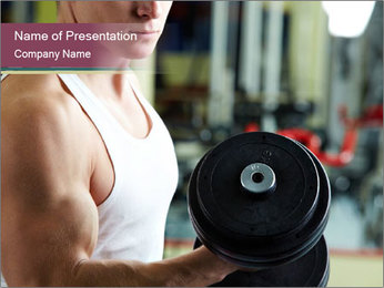 Sporty man training PowerPoint Template